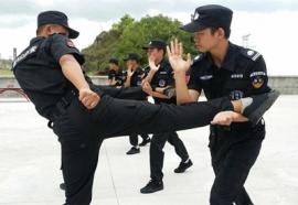 人力外包保安训练现场